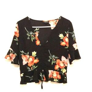 Top shop tropical pull-string top!